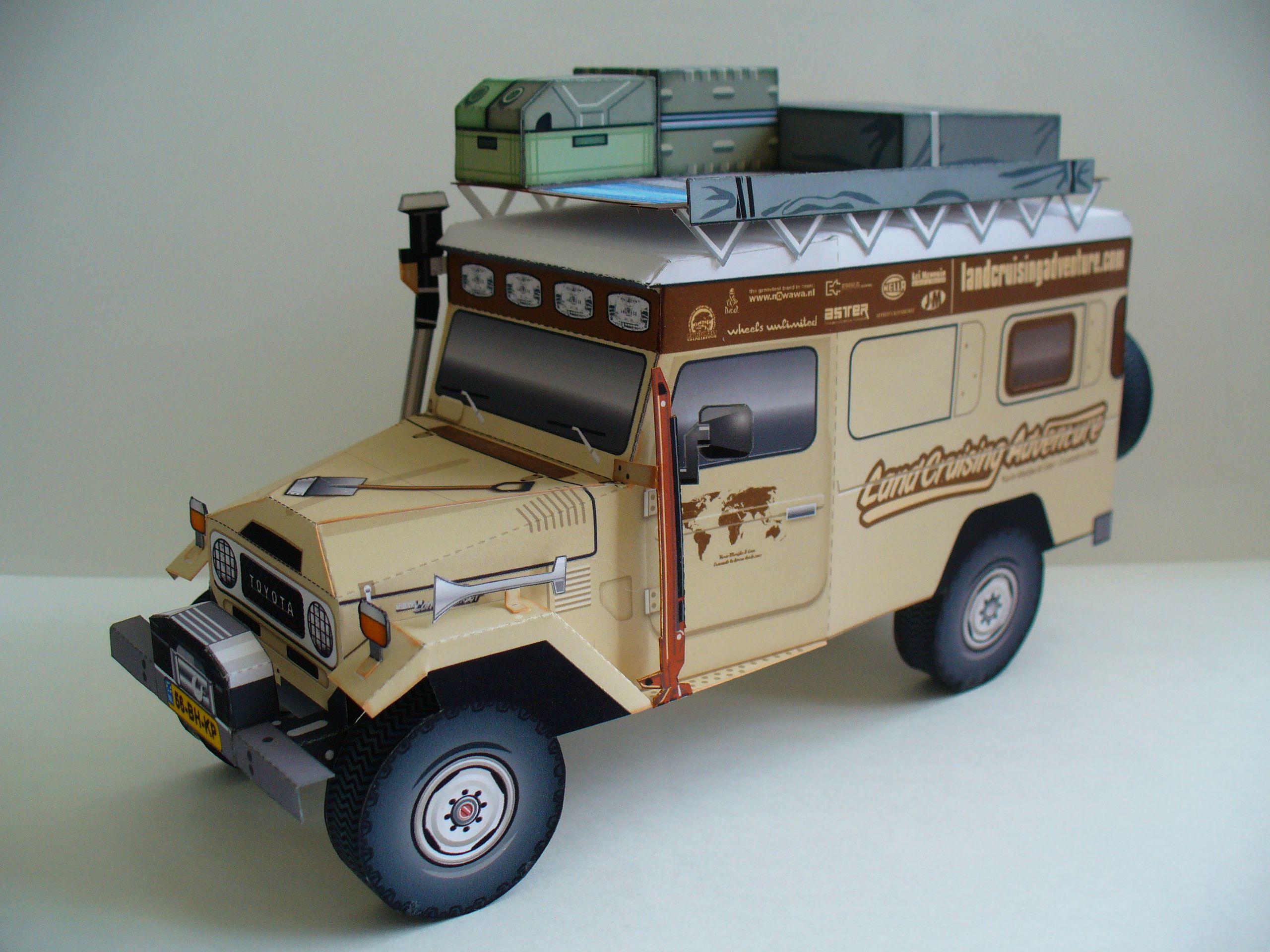 Toyota landcruising bj45 troopy land cruiser paper model