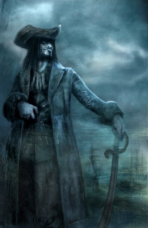 Black Beard in the mists. Pirates!