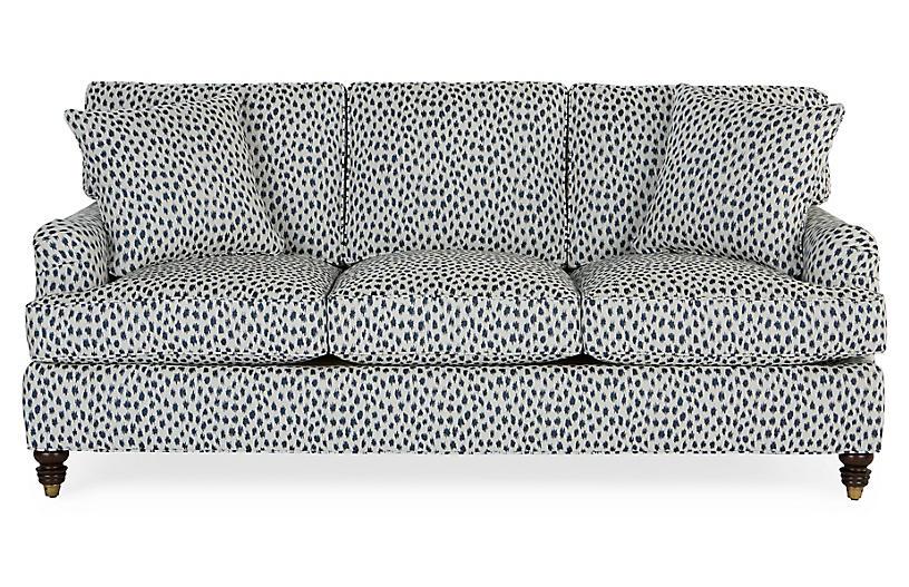 Kate Sleeper Sofa Navy Spot Sunbrella Miles Talbott Sleeper
