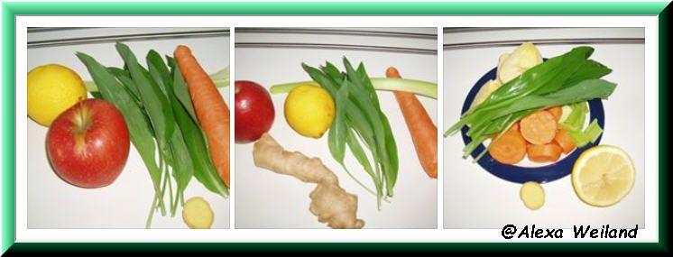 Smoothie selbstgemacht... Man braucht dazu frische Früchte und Gemüse Davon nimmt man was einem schmeckt...