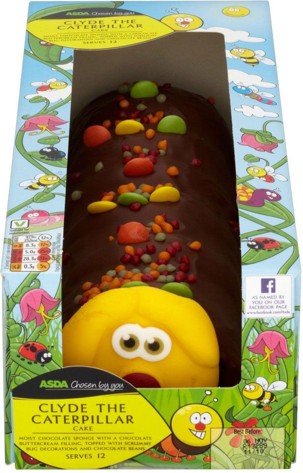 Asda Iced Birthday Cakes ~ Asda chosen by you clyde the caterpillar birthday cake celebration cakes cupcakes pops
