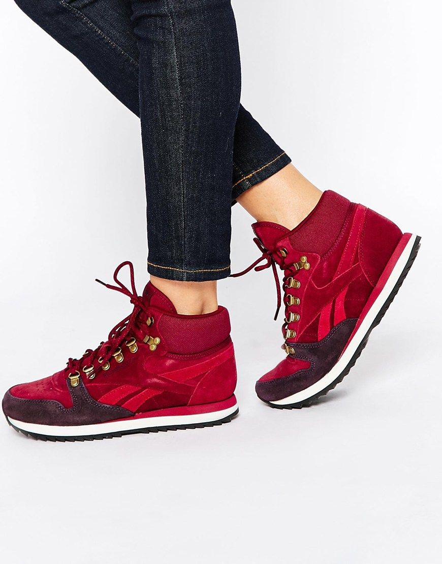 fcfb9d1b175 Image 1 of Reebok Leather Winterized Wine High Top Sneakers