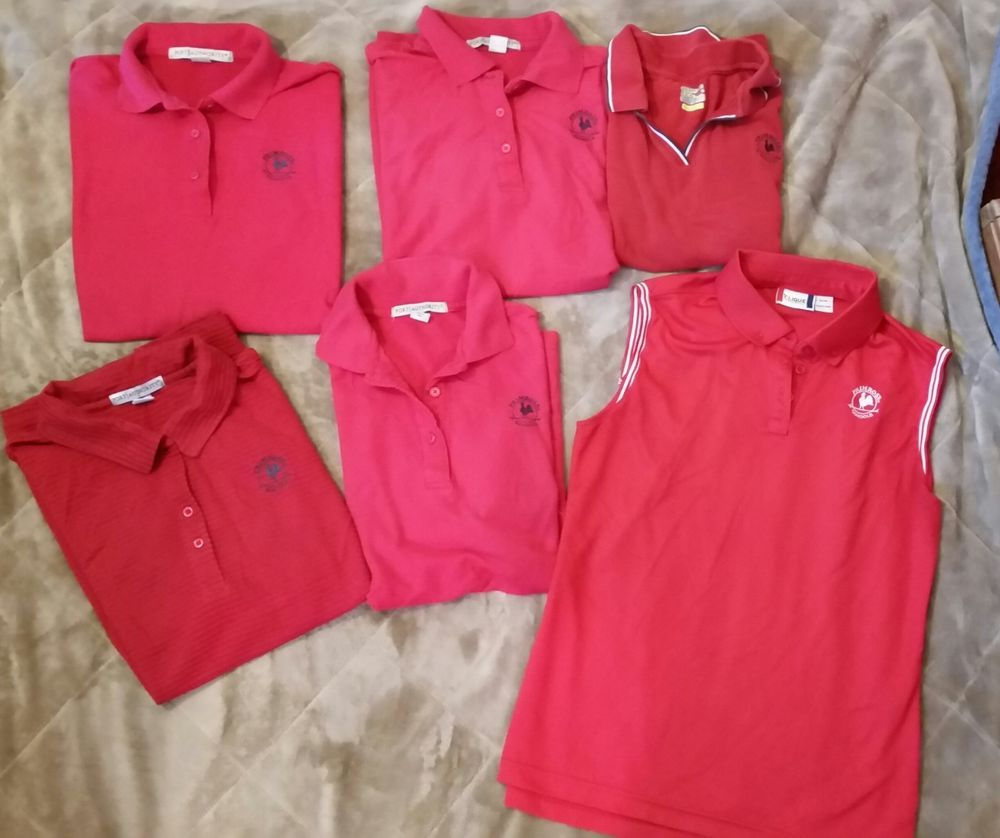 Primrose Schools Teacher Uniform red shirts lot short and