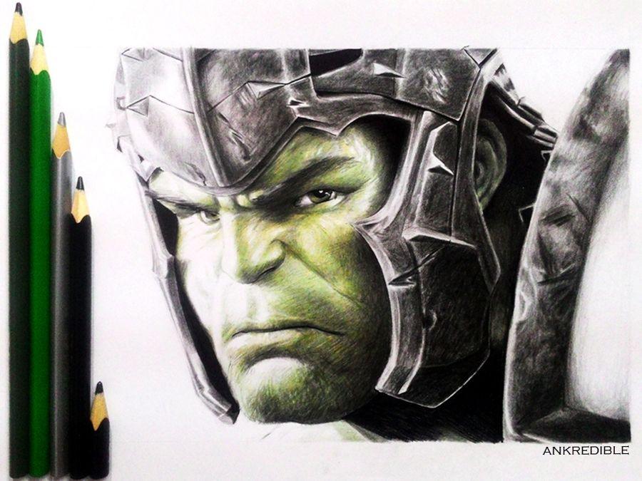 Ragnarok Hulk Color Pencil Drawing By Ankredible Color Pencil Drawing Pencil Drawings Marvel Drawings