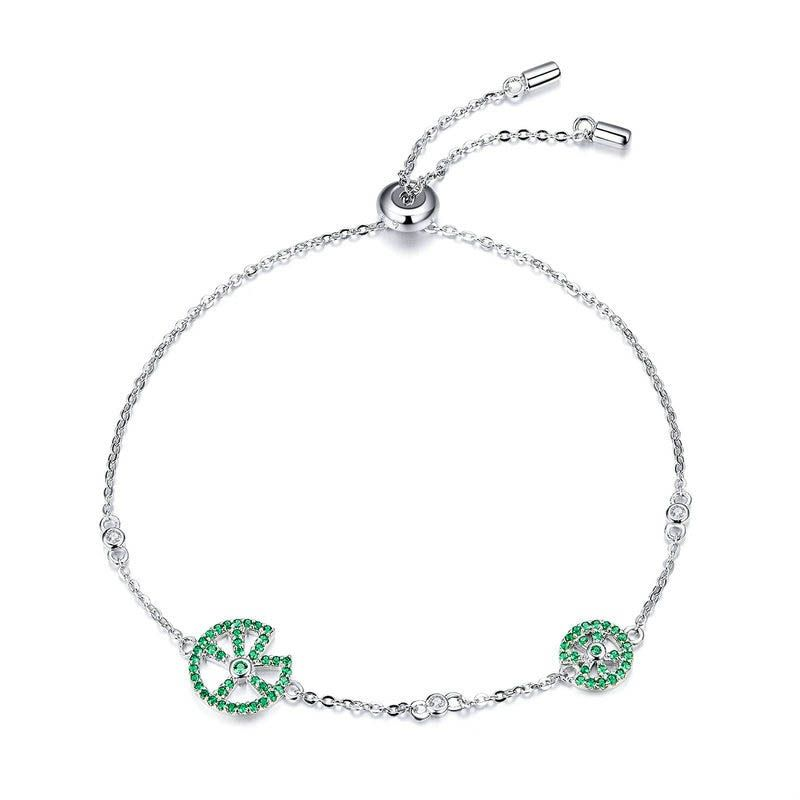 Charme élégant cadeau Zircon Bijoux Filles Coloré Bracelet Heart Crystal