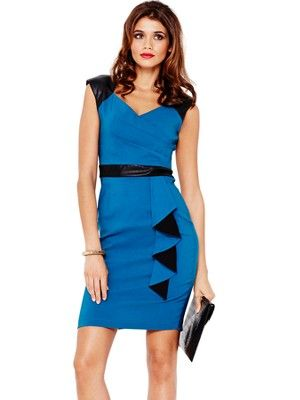Wrap Ruffle Front Dress, http://www.very.co.uk/paper-dolls-wrap-ruffle-front-dress/1301828179.prd Love this colour and style #partyinstyle