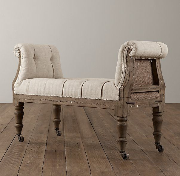 Deconstructed Tufted Roll Arm Bench Deconstructed Chair Furniture Upholstered Dining Chairs
