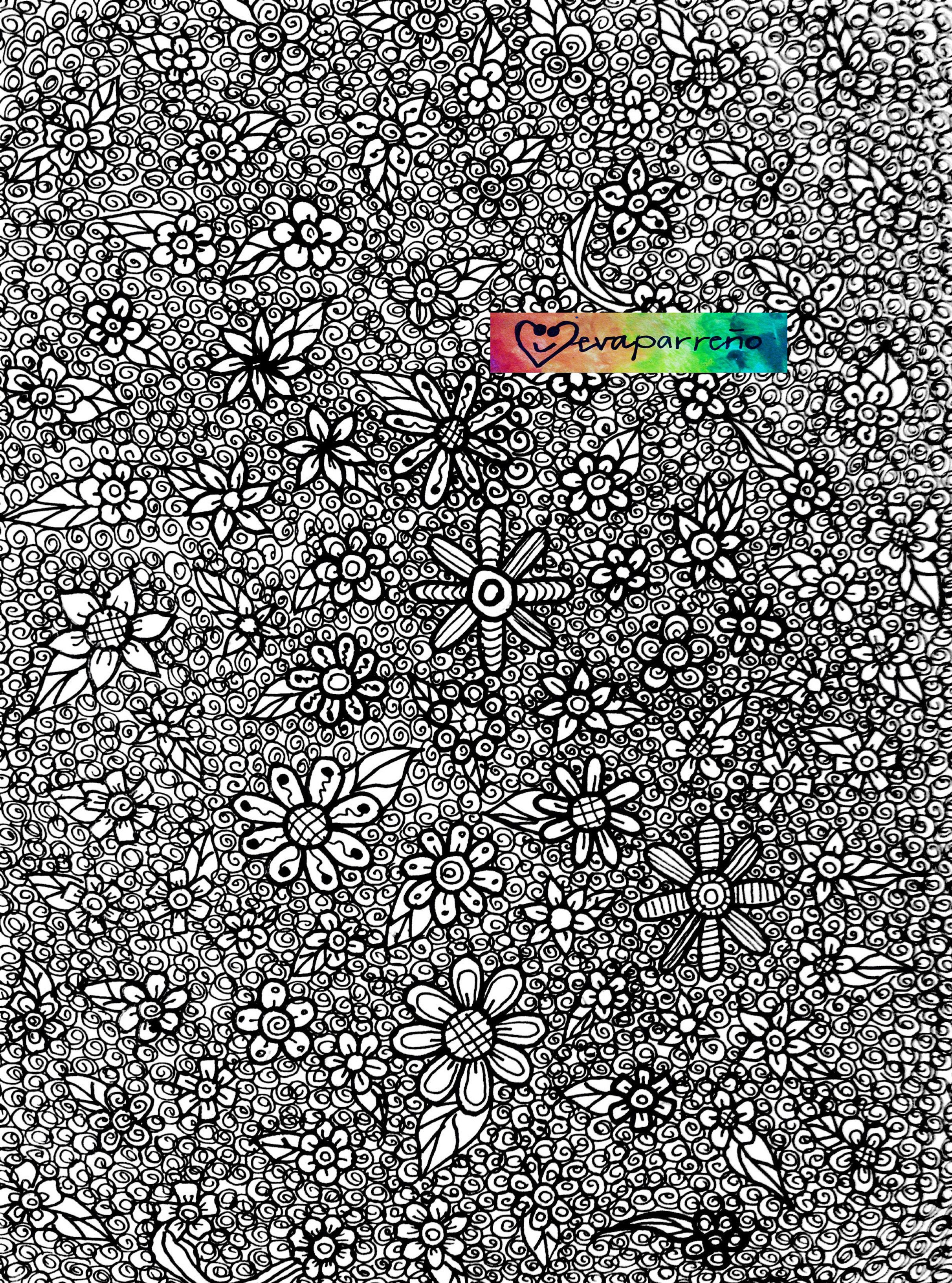 Doodles Floral Background