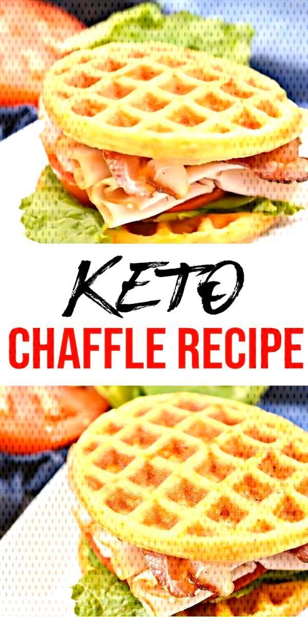 {Keto Chaffles} Tasty & easy low carb keto chaffle recipe. Quick & yummy chaffle for simple keto br
