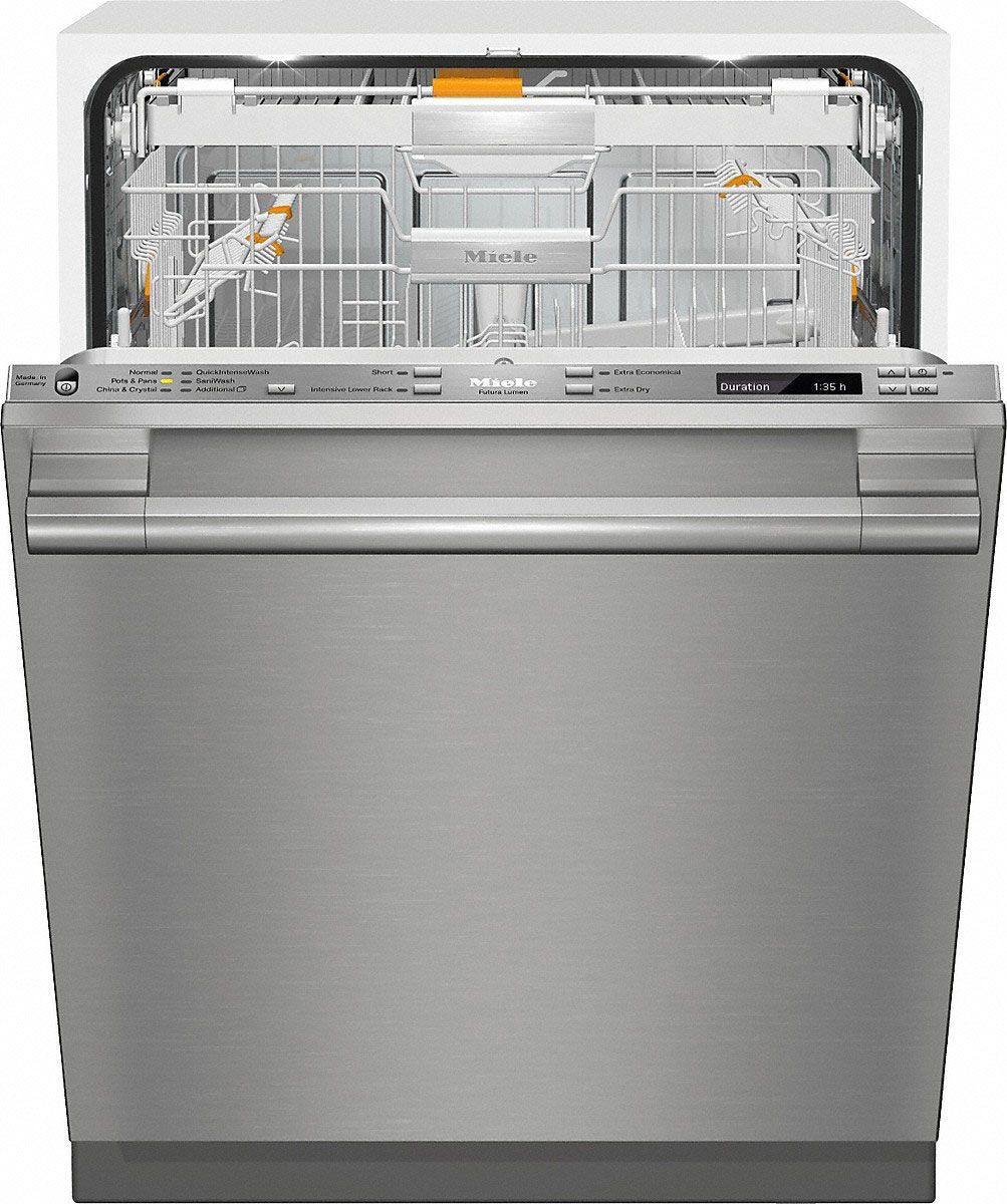 Miele 24 Stainless Steel Built In Dishwasher 10410270 Built In Dishwasher Miele Dishwasher Integrated Dishwasher
