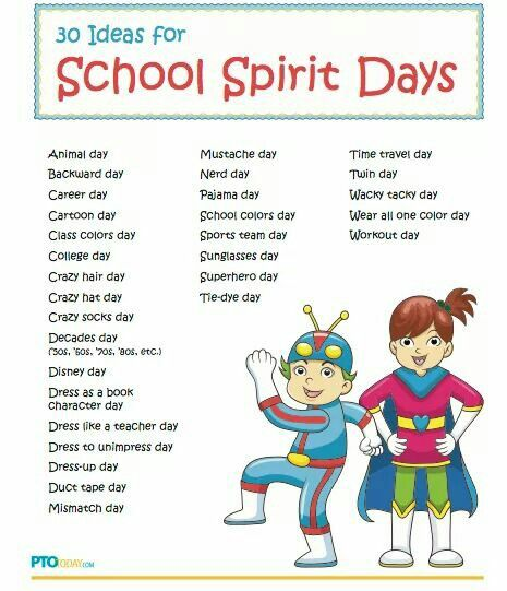 Classroom Dress Up Ideas ~ Spirit day ideas classroom pinterest school