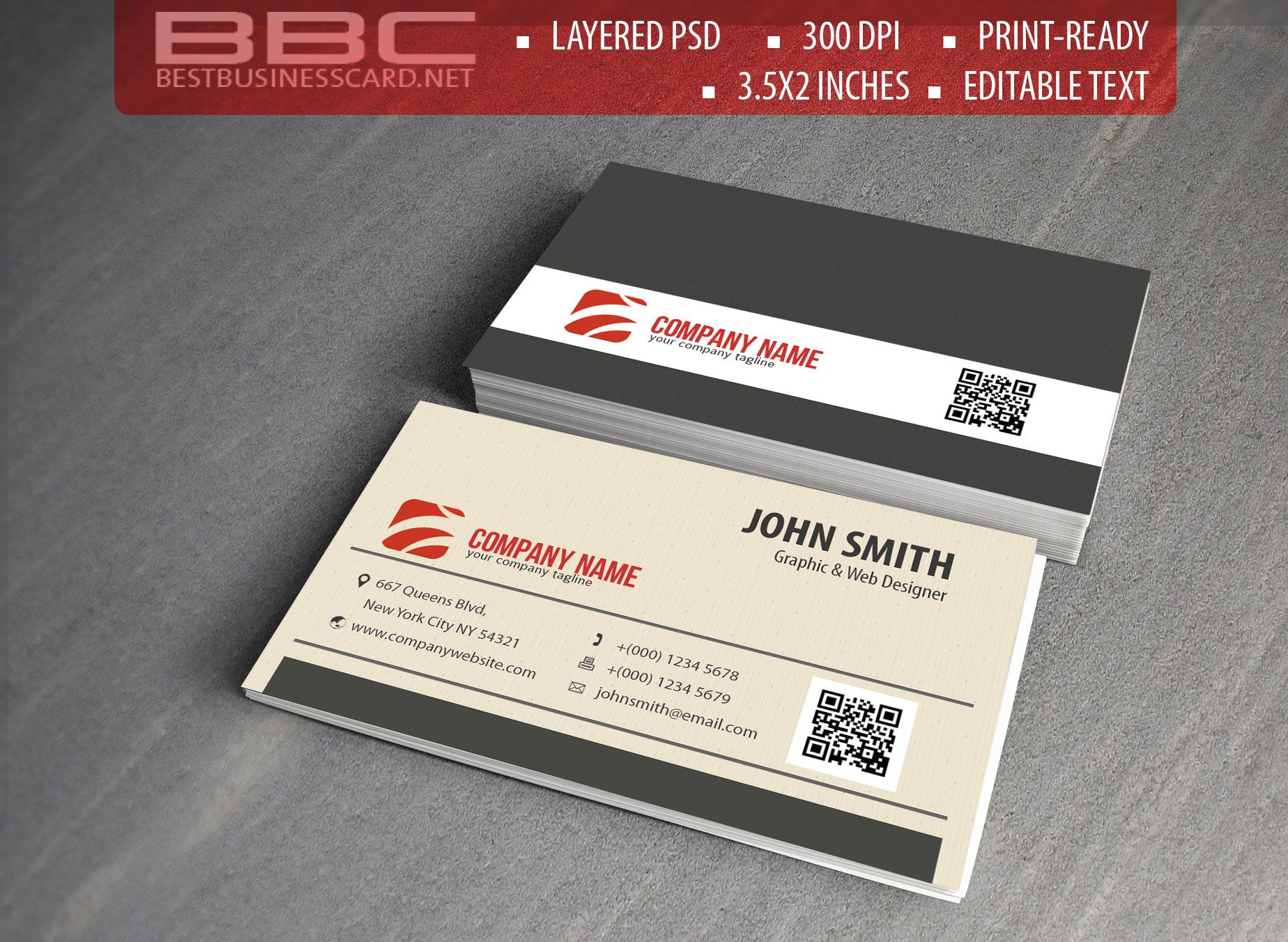 Free Professional Business Card Templates in Pink and Red | Business ...