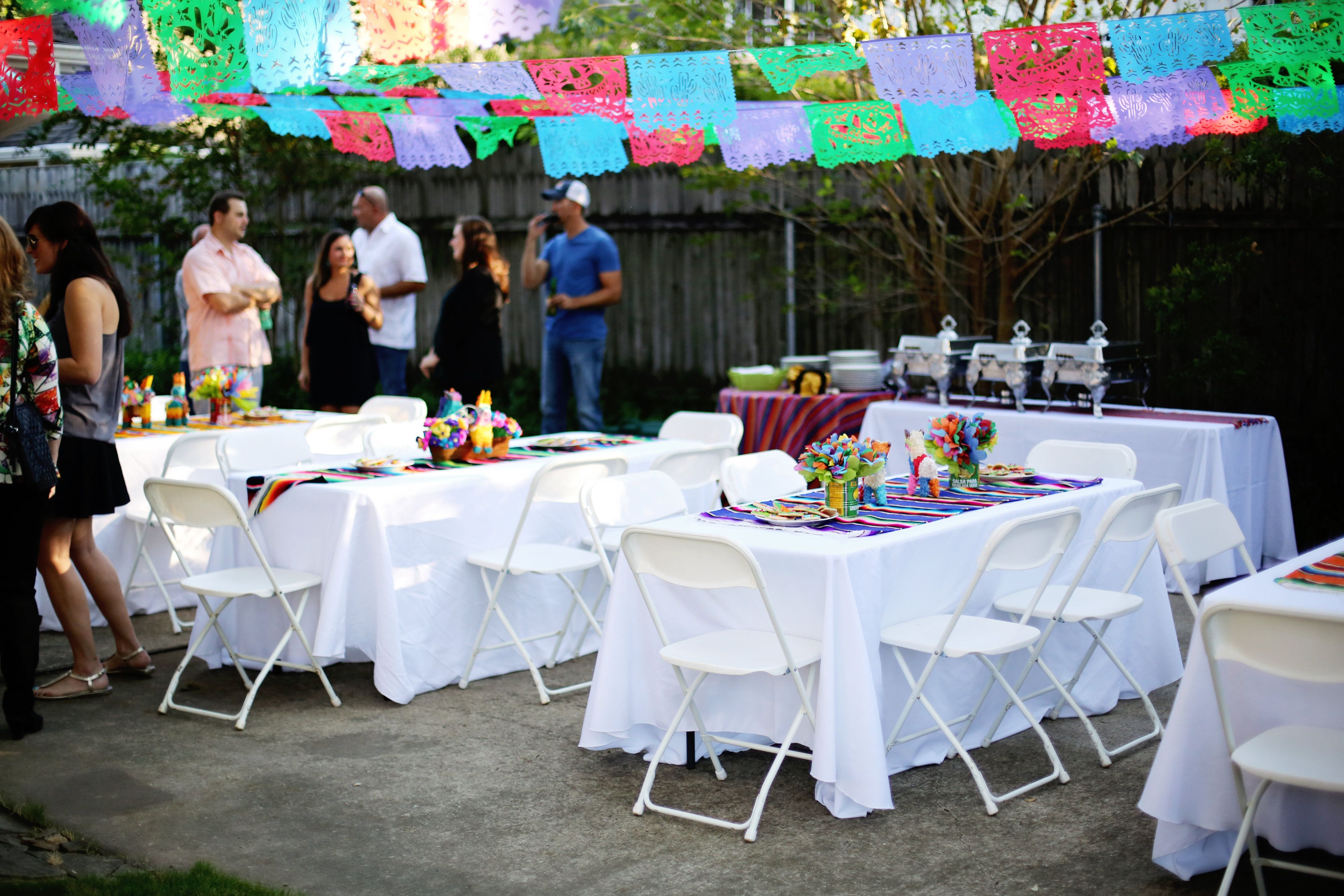 Image result for Outdoor fiesta party