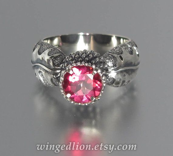 size 7.5 Ready to ship  BLOOMING THISTLE ring with by WingedLion, $170.00