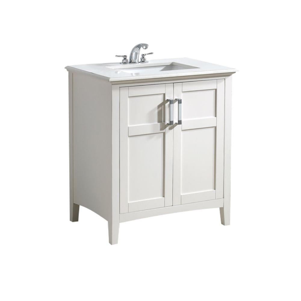 Simpli Home Winston 30 In Bath Vanity