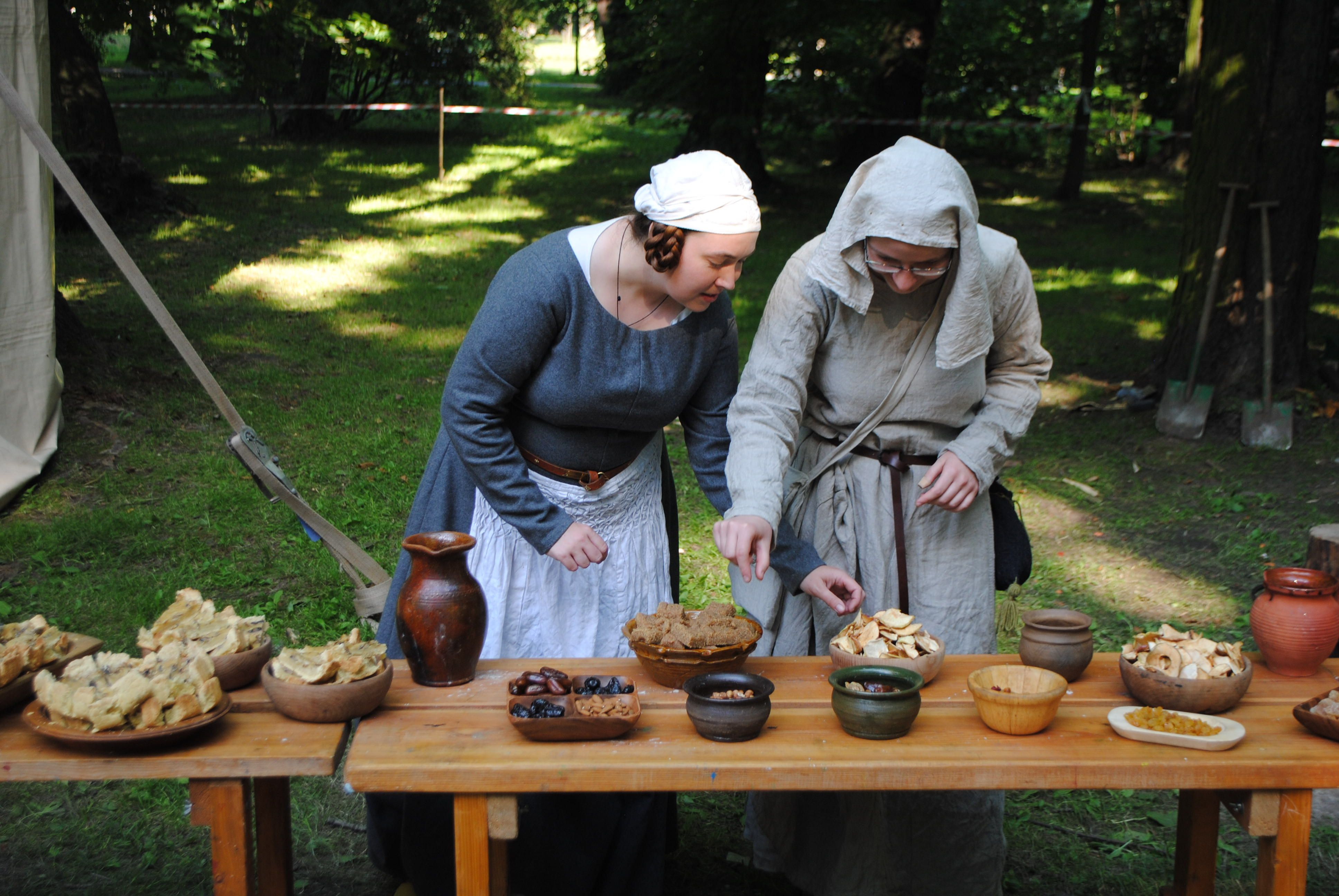 Another part of our medieval food exhibition.