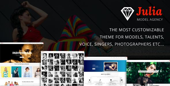 est Julia Talent Management WordPress CMS Theme is fully responsive ...