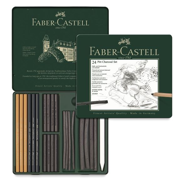 Fabercastell Pitt Charcoal Tin In 2020 Faber Castell Charcoal