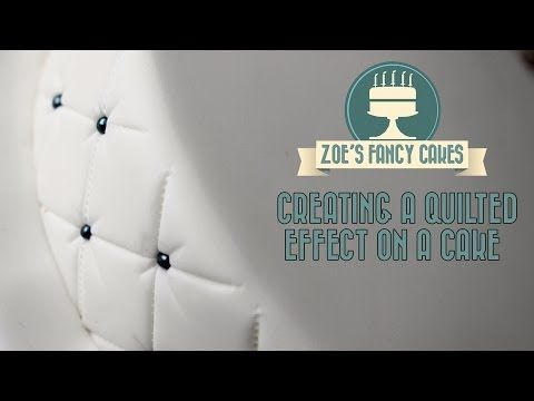 Creating a quilted effect on a cake How To Tutorial Zoes Fancy Cakes - YouTube
