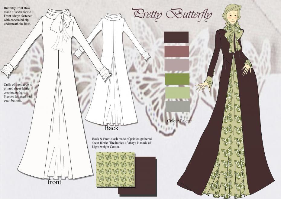 abaya design- change up butterflies