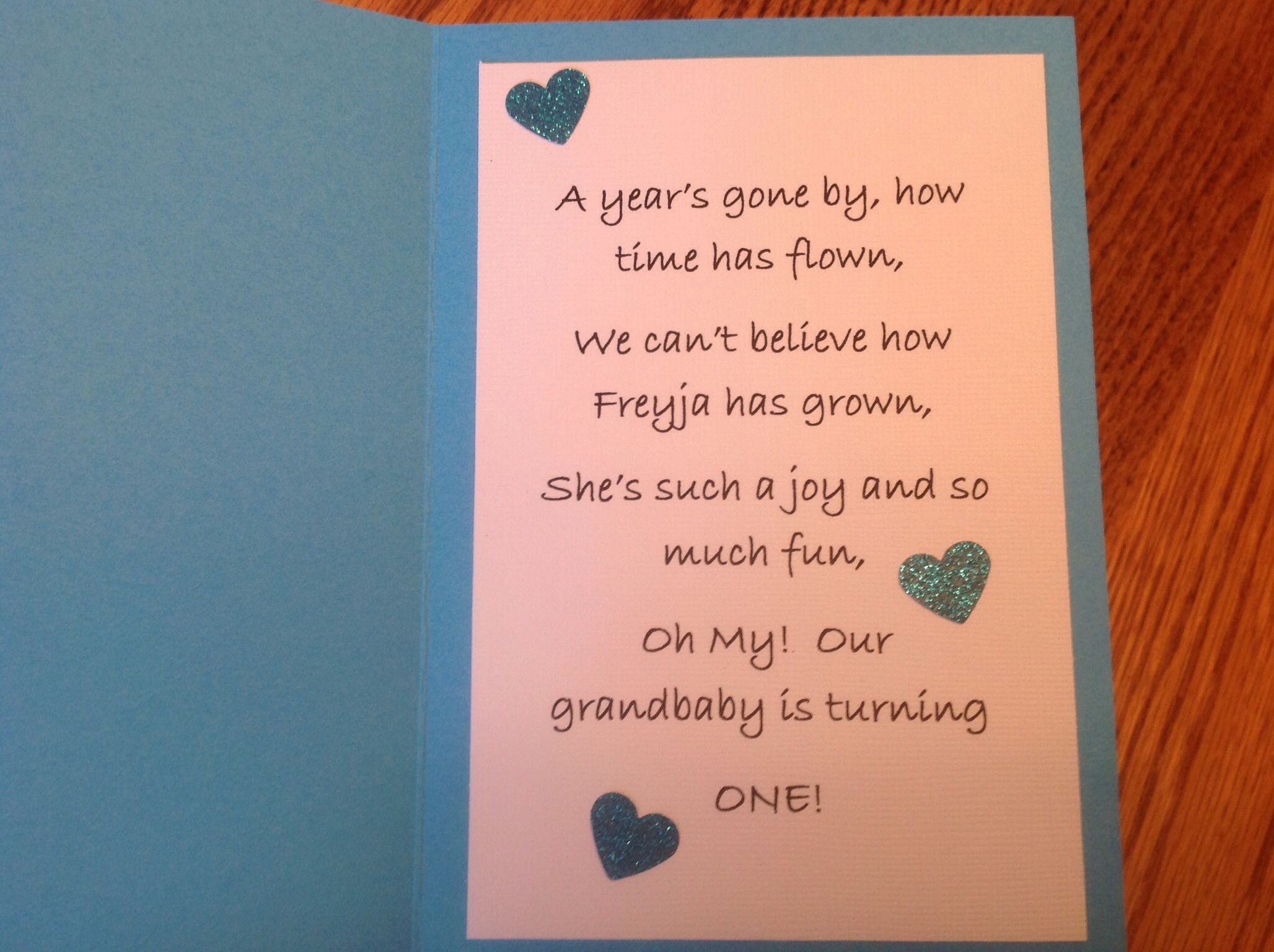 1 year old birthday card quote My Cards Pinterest