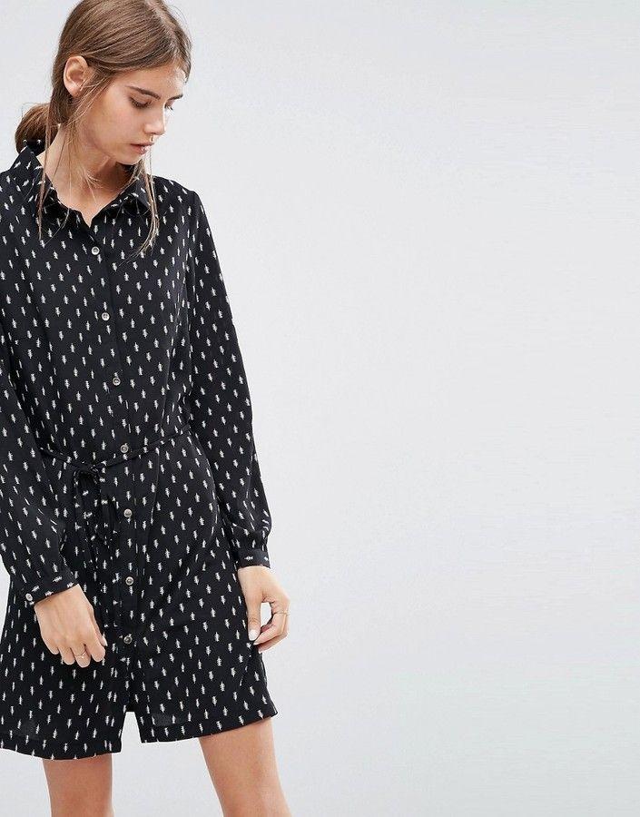 Love & Lies May Printed Shirt Dress