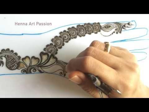 simple mehendi chapter 23: simple and easy arabic mehendi for beginners - YouTube