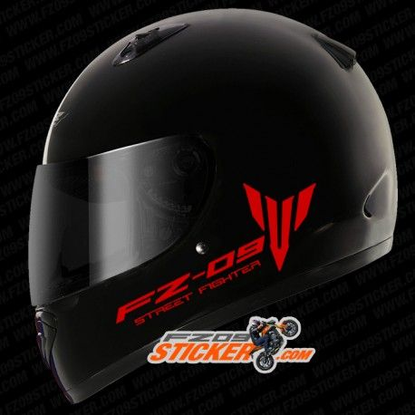Custom yamaha fz 09 street fighter side helmet stickers custom cut to fit perfectly