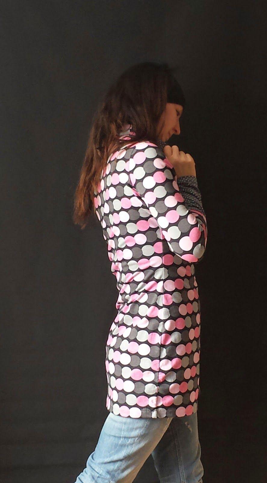 Kleid mit Rollkragen und Raffung | schnittmuster alice | Pinterest ...