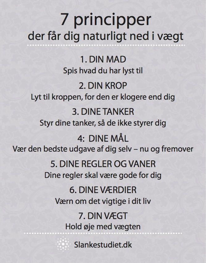 Kender du de 7 principper, der får dig naturligt ned i vægt? Ellers snup den gratis guide, når du tilmelder dig nyhedbrevet på Slankestudiet.dk