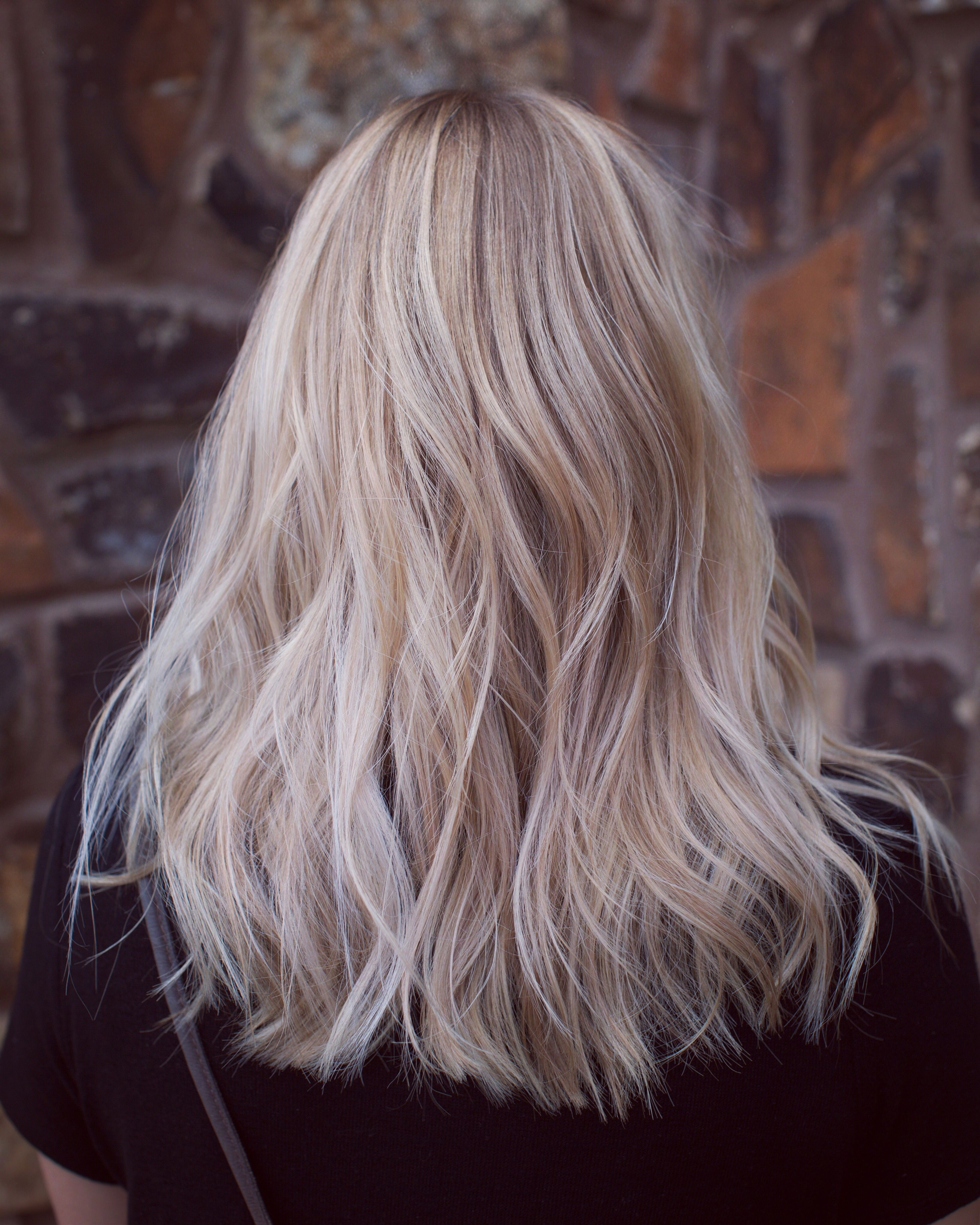 Pretty Pearl Blonde Baby Lights Combined With Balayage To Lighten