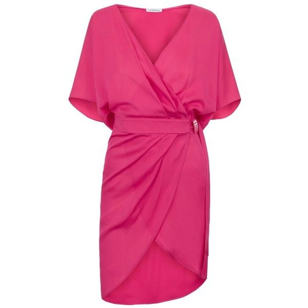 La Perla Beyond The Beach Wrap Dress In Silk Georgette 1 190 Liked On Polyvore Featuring Dresses Pin Beach Wrap Dress Short Beach Dresses Pink Wrap Dress