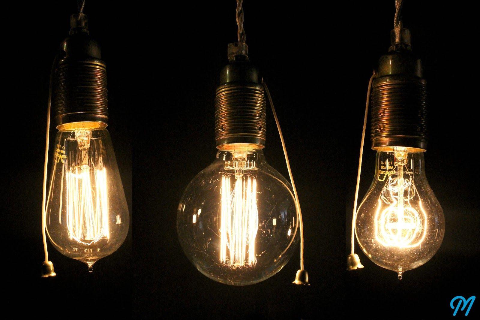 3 ampoules filament culot m tal laiton projet pub o. Black Bedroom Furniture Sets. Home Design Ideas