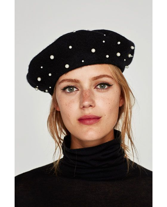 Image 4 of PEARLY BERET from Zara  a02ed299892