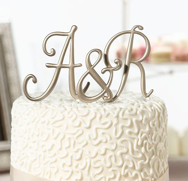 Available In Letters A Through Z And Bring Their Initials Together As Husband Monogram Wedding Cake ToppersInitial