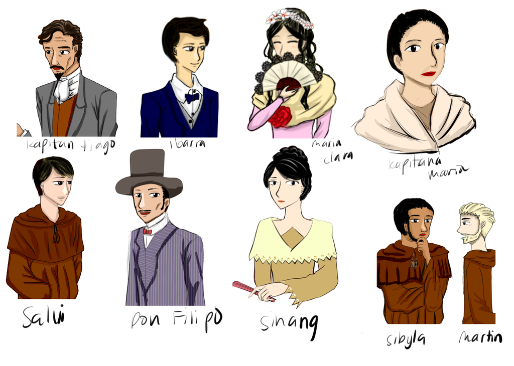 Noli Me tangere Characters: My Version by hAnniemey ...