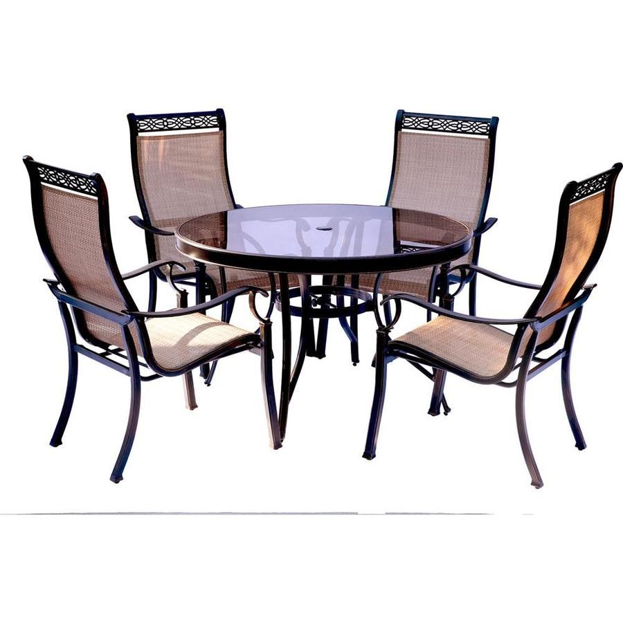 Hanover Monaco 5 Piece Dining Set At Lowes Com Outdoor Dining