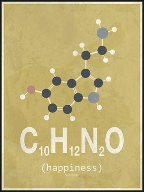 Molekyle Glæde Gul Grå 50x70 Kemi Organisk Kemi Og Glæde