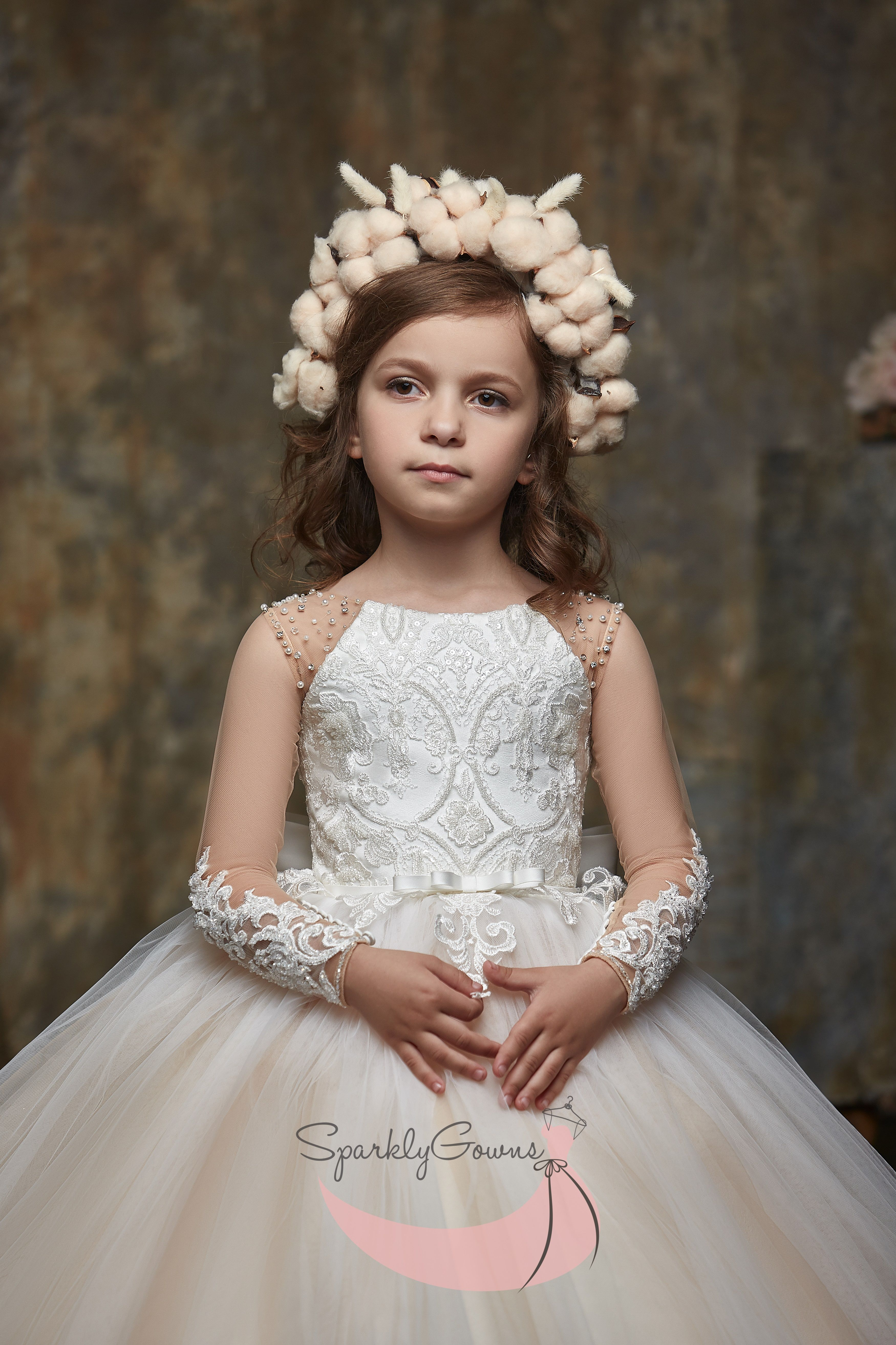 Illusion Long Sleeves First Communion Flower Girl Dress 3004 Illusion Long Sleeves First Communion Flower Girl Dress 3004 Cute Flower Girl Dresses Flower Girl Dresses First Communion Dresses [ 5250 x 3500 Pixel ]