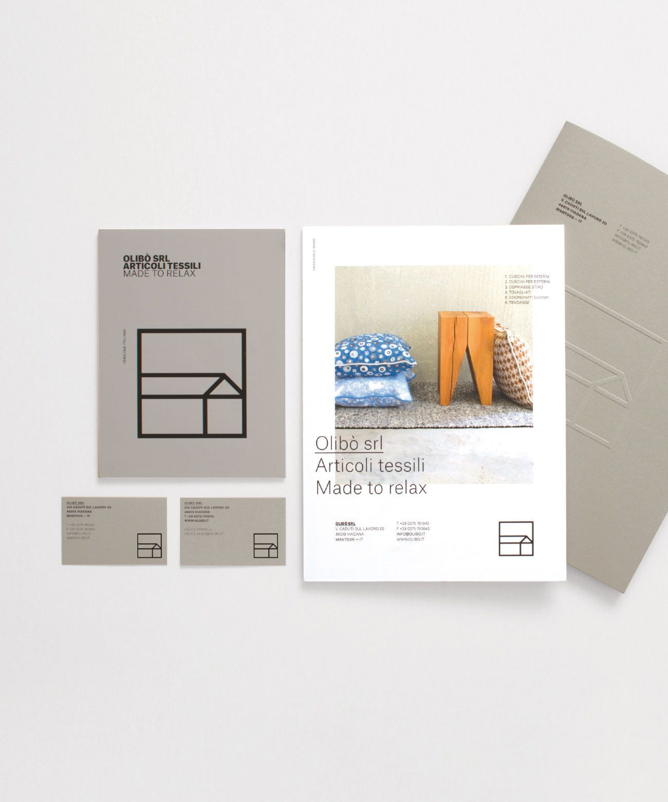 Cuscini Olibo.Studio Over Olibo Textile Industry Branding Logan