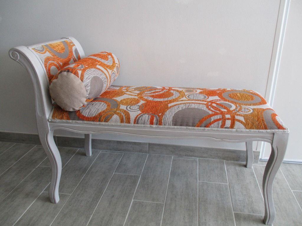 banquette mini meridienne decorative bout de lit. Black Bedroom Furniture Sets. Home Design Ideas