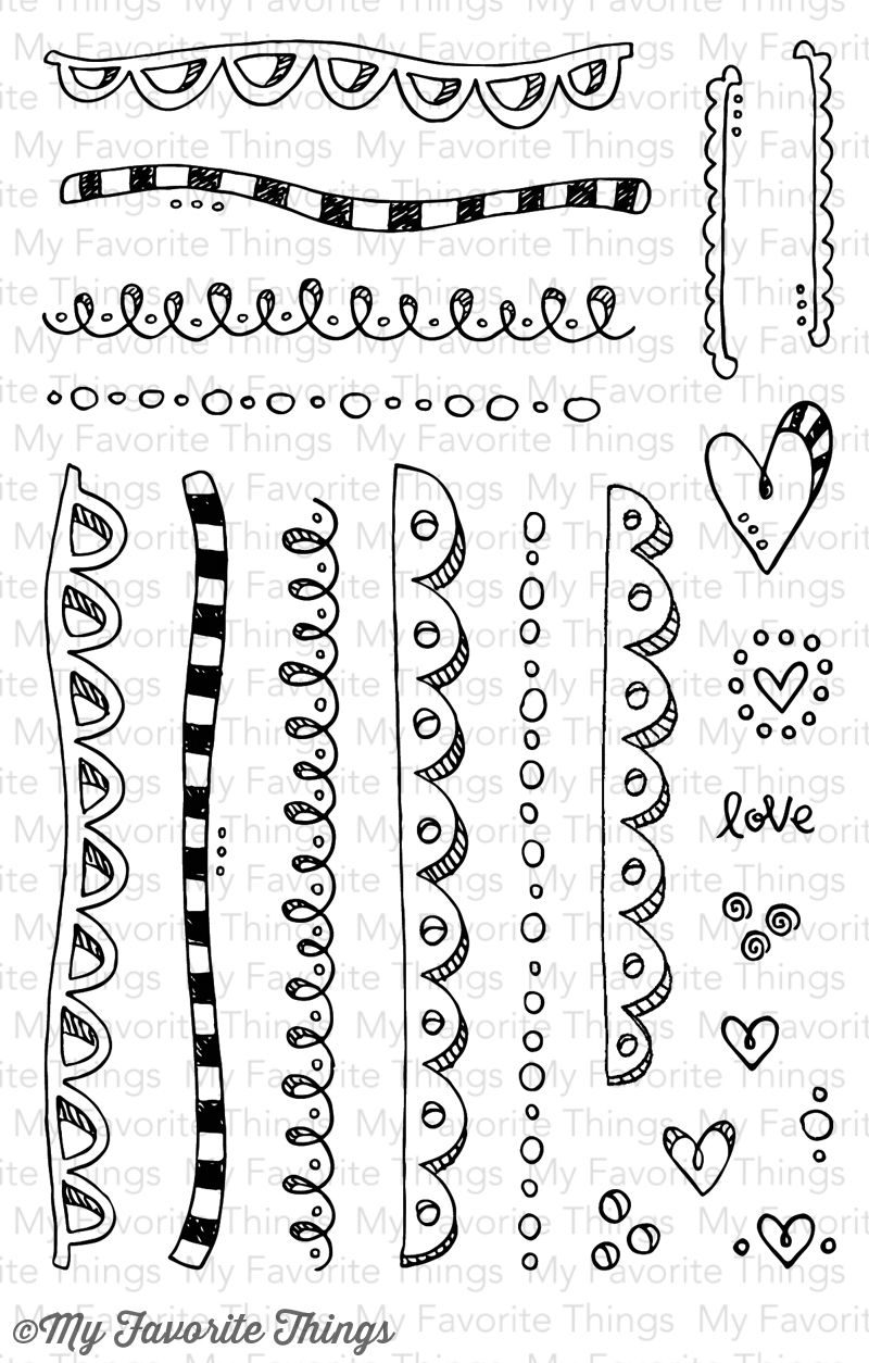 My Favorite Things stamps: Sunny Day Borders and Accents | Zentagl ...