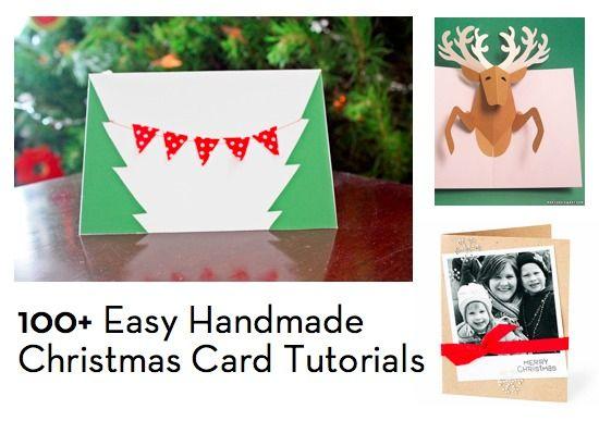 How To 100+ Easy Handmade Christmas Card Tutorials Card tutorials