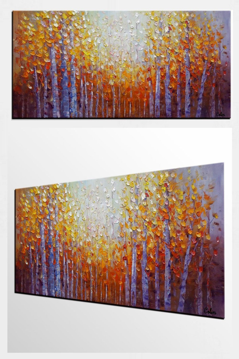 Dining room wall art autumn tree painting abstract painting large art oil painting for sale autumn treepainting paintings artwork buypainting
