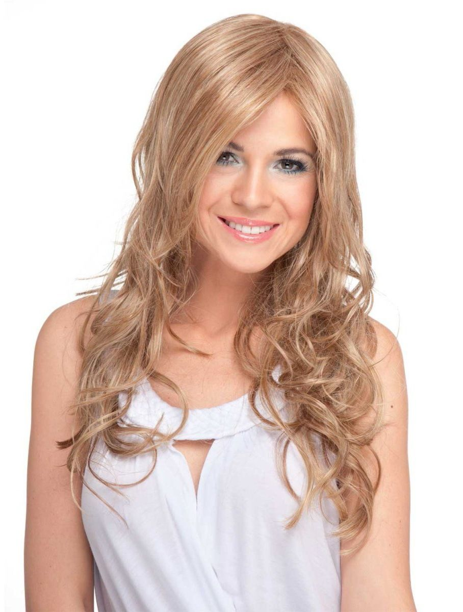 Radiant Blonde Curly Long Synthetic Wigs CSAD0068