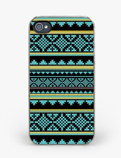 Mint Aztec iPhone 4/4S Case