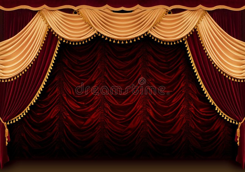 Red Theater Curtain The Red Theater Curtain Background Aff