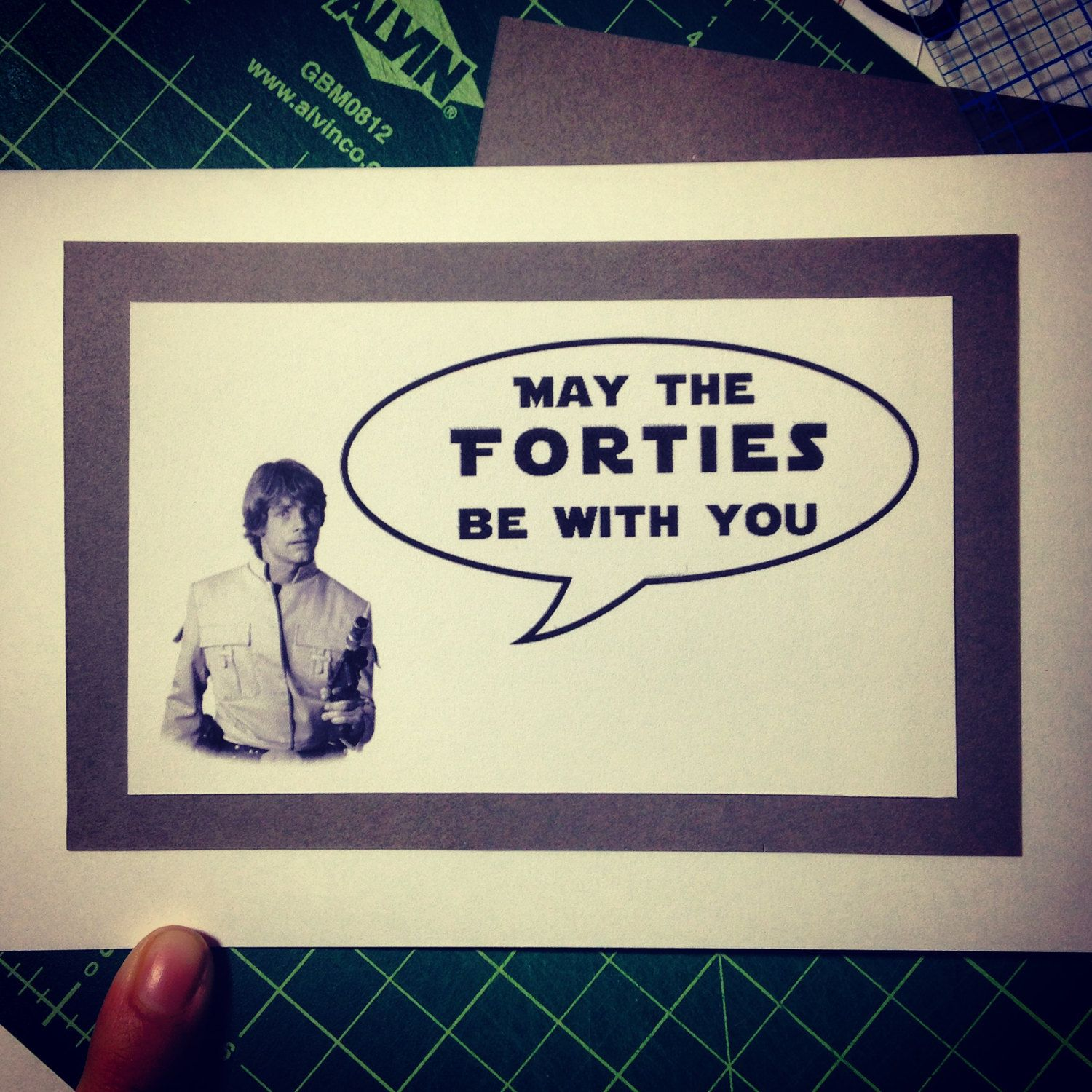 Funny Star Wars Themed 40th Birthday card Forties by PaperTechie