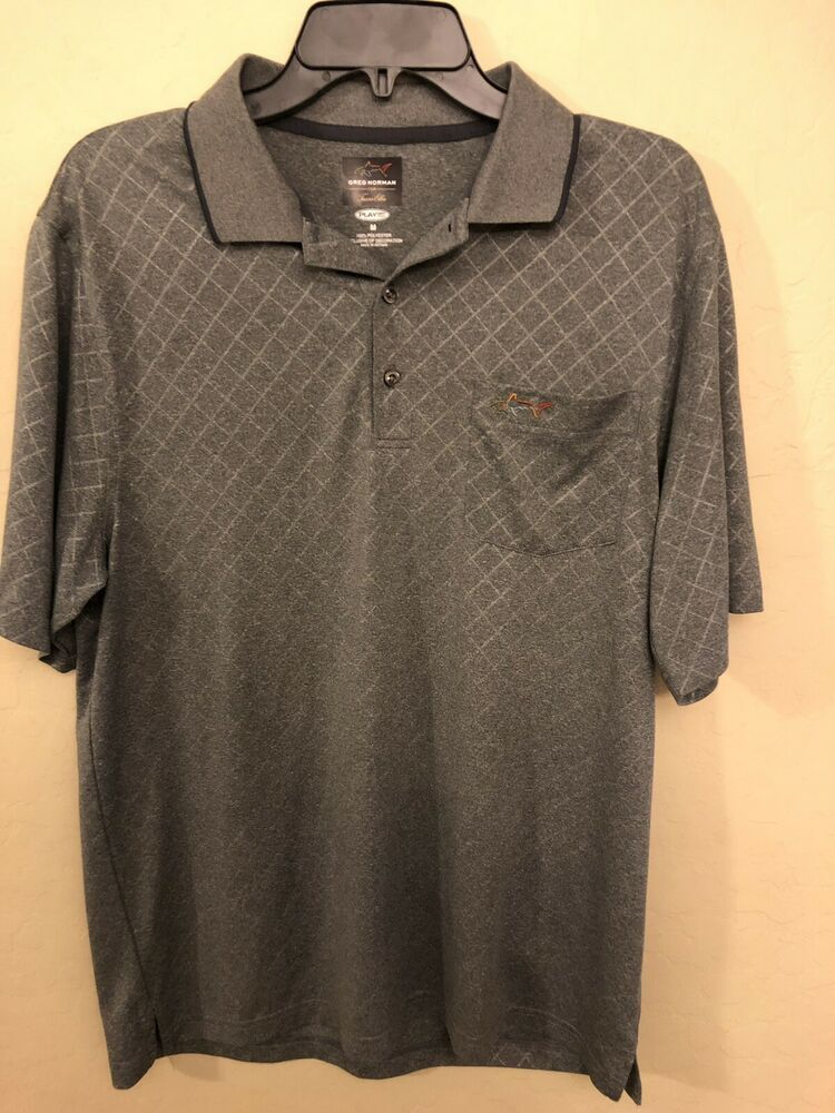 7f37651a8659 Men's Greg Norman Play Dry Golf Polo Shirt Gray Size M #fashion #clothing  #shoes #accessories #mensclothing #shirts (ebay link)