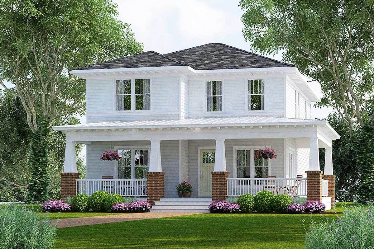 Plan 50152ph Bungalow House Plan With Two Master Suites Craftsman Style House Plans Architectural Design House Plans House Plans